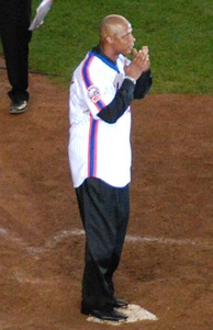 Strawberry at Shea Stadium in 2008