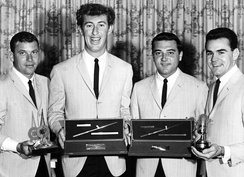The Delltones with four radio awards