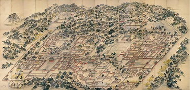 Donggwoldo, a landscape of the once extensive grounds of the Changdeokgung Palace, and the Changgyeonggung Palace
