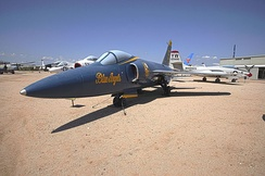 Former Blue Angels F-11 Tiger at the Pima Air & Space Museum in Tucson, Arizona