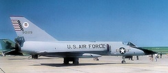 Convair F-106A-130-CO Delta Dart AF Serial No. 59-0119 of the Air Defense Weapons Center, Tyndall AFB Florida, 1979. This aircraft was retired in 1983, converted to a QF-106 Drone and expended over the White Sands Missile Range near Holloman AFB, NM on 13 September 1991.