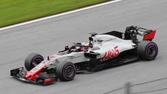 Grosjean driving the VF-18 at the Austrian Grand Prix