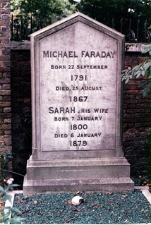 Michael Faraday's grave at Highgate Cemetery, London