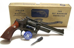 Introduced in 1935, the Smith & Wesson Model 27 was the first revolver chambered for the .357 Magnum cartridge.