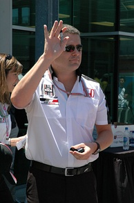 Gil de Ferran (pictured in 2005) was awarded pole position as the leader of the Drivers' Championship standings.