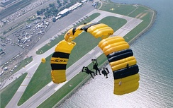 US Army Golden Knights at Cleveland National Air Show