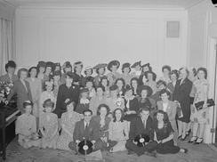 Radio-Canada employees in 1945