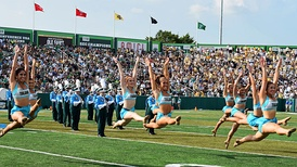 TUMB and Shockwave perform at halftime in Yulman Stadium
