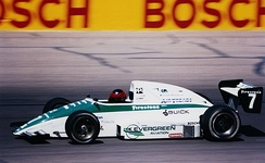 Mark Smith racing an Indy Lights car at Phoenix International Raceway in 1991.