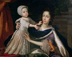 Mary of Modena and James Francis Edward, Anne's stepmother and half-brother