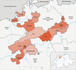 Districts of Canton Solothurn