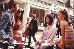 """Swinging London"" fashions on Carnaby Street, c. 1966. The National Archives (United Kingdom)."