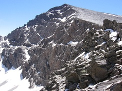 The Mulhacén, the highest peak in the Iberian Peninsula.