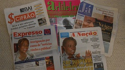 Newspapers of Cape Verde including Expresso das Ilhas, A Nação and Já