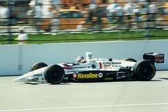 Mansell competing in the 1994 Indianapolis 500