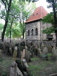 Prague's Old Jewish Cemetery is the last resting place for more than 100,000 people who had been buried here since the 15th century.