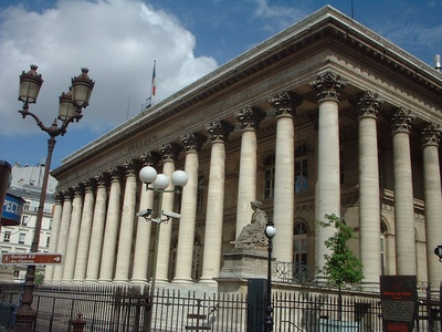 The historic Bourse de Paris, or Paris stock market, now called Euronext Paris