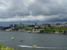 An overcast day in Plymouth, south-west England