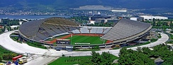 Poljud Stadium, commissioned for the 1979 Mediterranean Games