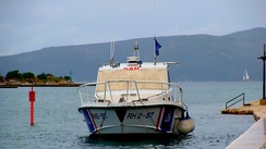 A boat of the Search and Rescue Service in Trogir, Spring 2014