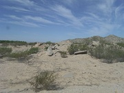 Ruins of the Gila River War Relocation Center.