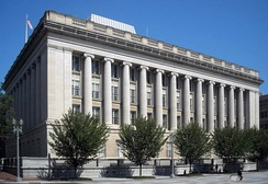 The Office of Foreign Assets Control and the main branch of the Treasury Department Federal Credit Union are located in the Freedman's Bank Building in Washington, D.C.