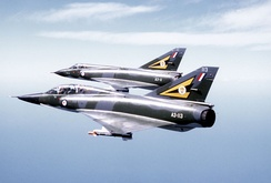 Two Mirage III fighters in RAAF colours