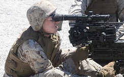 USMC M2 fitted with a Leupold CQBSS variable power scope.
