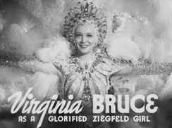 Actress and singer Virginia Bruce in The Great Ziegfeld.