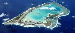 Aerial overview of the Wake Island atoll, part of the Pacific Remote Islands Marine National Monument.