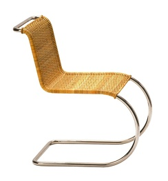 """Weißenhof chair"", by Mies van der Rohe with canework upholstery by Lilly Reich[1] (ca. 1927)"