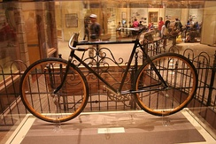 Wright brothers' bicycle at the National Air and Space Museum