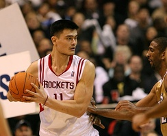 In his fifth season, Yao averaged a career-high 25 points per game.