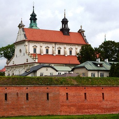 Zamość Cathedral overlooking the fortress which surrounds the Old City