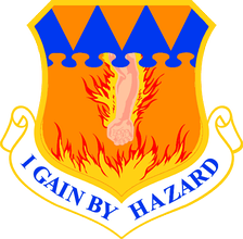 The motto of the 317th Tactical Airlift Wing is I Gain By Hazard.
