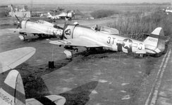 Republic P-47Ds of the 22d Fighter Squadron at Kingsnorth 1944.