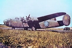 "328th Bomb Squadron Consolidated B-24D-1-CO Liberator Serial 41-23711 ""'Jerks Natural"". This aircraft was lost over Austria 1 October 1943. MACR 3301"