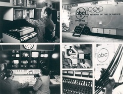 Publicity photo of the mobile studios used by ABC in 1976.