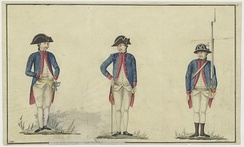 Various VOC soldier uniforms, c. 1783
