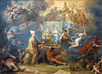 Allegory on the Treaty of Utrecht (1713) ending the War of the Spanish Succession