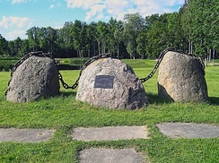 Monument to the Baltic Way in Estonia