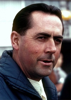 Australian Jack Brabham (pictured in 1966) won his 1st of 3 driver's championships, driving for Cooper
