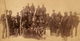 "Buffalo Soldiers, 1890. The nickname was given to the ""Black Cavalry"" by the Native American tribes they fought."