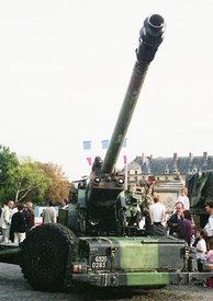 French TRF1 155 mm gun-howitzer