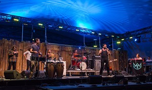 The Cat Empire performing at the 2013 Winnipeg Folk Festival
