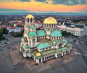 Byzantine Revival - The Alexander Nevsky Cathedral from Sofia (Bulgaria), built between 1882 and 1912