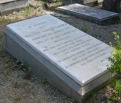 His tomb in English Cemetery at Florence