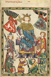 Wenceslaus II as depicted in the Codex Manesse