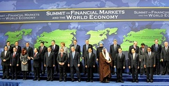Kevin Rudd (back row, fourth from right) at the G-20 Leaders Summit on Financial Markets and the World Economy.