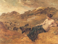 Cyrene and Cattle, by Edward Calvert